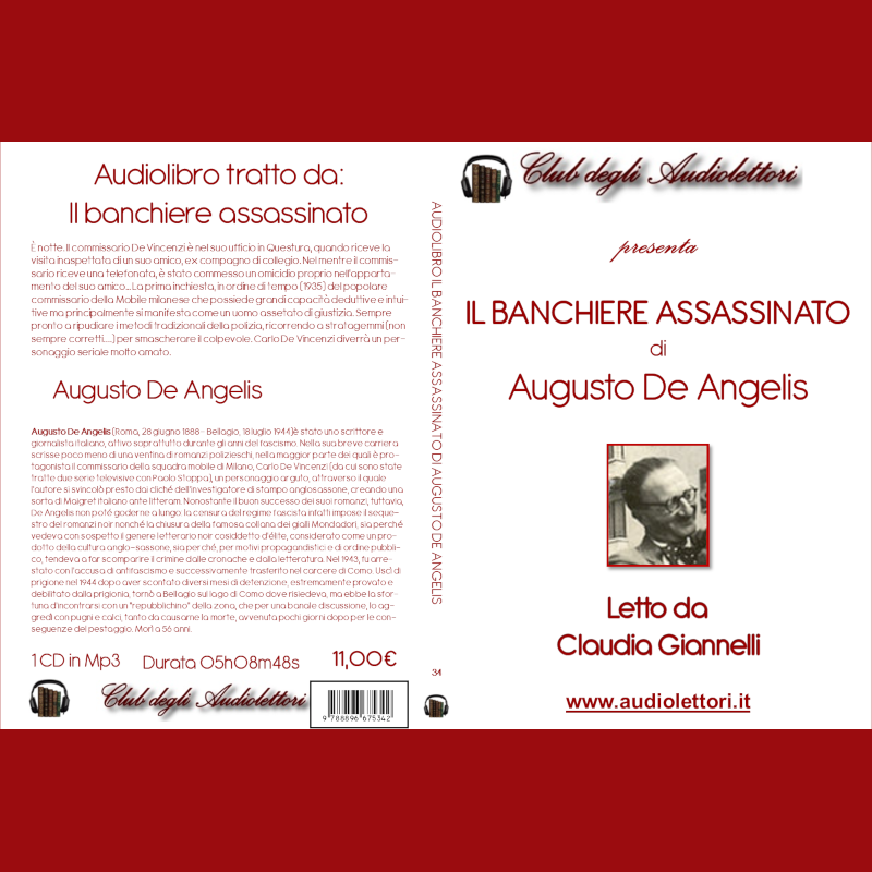 Copertina CD dell'Audiolibro Il banchiere assassinato